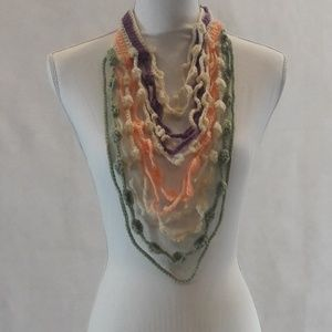 Maxi Collar, Necklace, Colorful, Hand Crafted